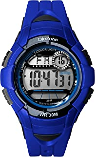 Boys Digital Watch Kids Sports 7-Color Flashing Light Water Resistant 100FT Alarm Gifts for Boys Age 7-10 481B