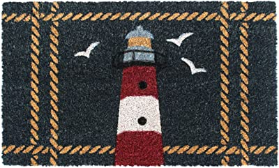 """Rugsmith Multi Light House Rope Machine Tufted Doormat, 18"""" x 30"""", Natural"""