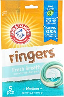Arm & Hammer Ringers Dental Treats for Dogs | Dental Chews Fight Bad Breath, Plaque..