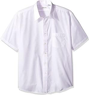 Van Heusen Men's White Broadcloth Wrinkle Free Short Sleeve Dress Shirt