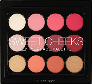 BYS 12 Face Palette, Sweet Cheeks