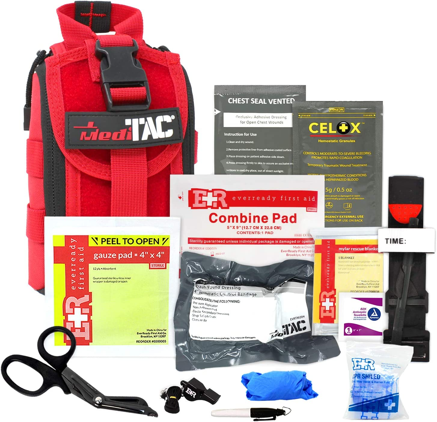 MediTac IFAK Molle - Eagle Type Trauma Tactical with Kit Special sale item Tourniq safety