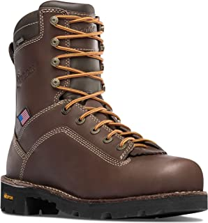 """Danner Quarry USA 8"""" Brown (17305) Vibram Sole Oil & Slip Resistant 