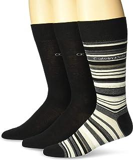 Men's 3 Pack Multi Solid Assorted Dress Crew Socks