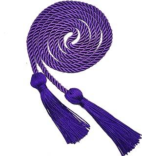 GraduationRoyal Honor Cord,Single Braided Cord Length 68'',Grad Days Available in 15 Colors (Purple)
