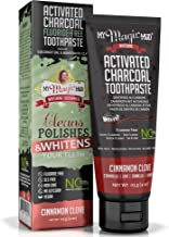 My Magic Mud - Activated Charcoal Toothpaste, Natural, Whitening, Detoxifying, Cinnamon Clove, 4 Ounce (Pack of 1)