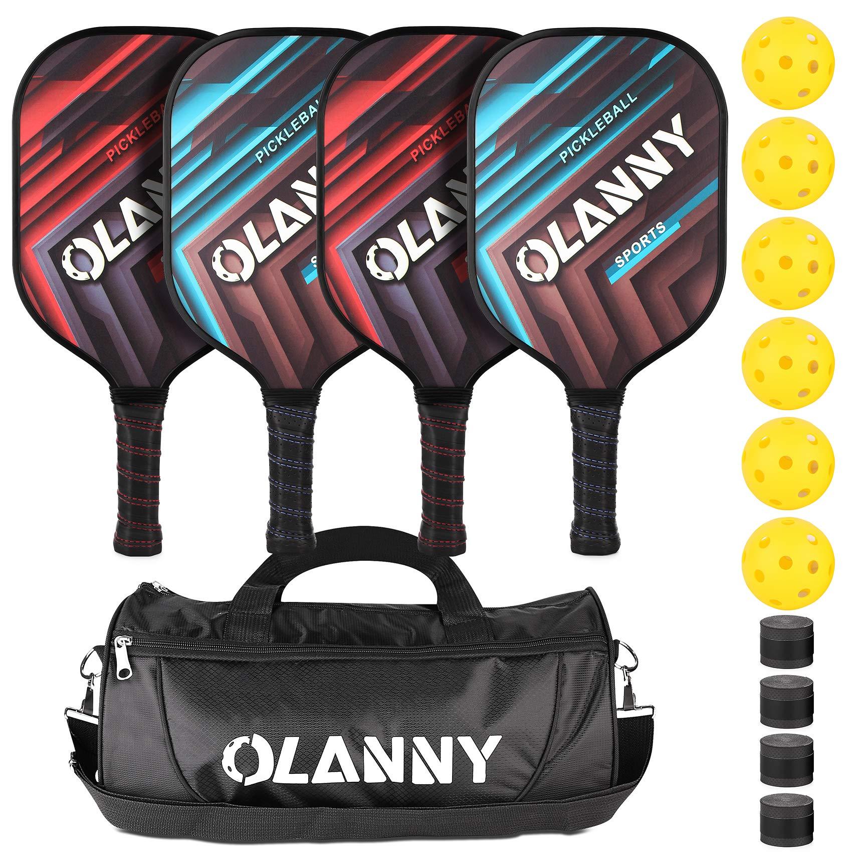 OLANNY Graphite Pickleball Paddles 4 Pack - Premium Rackets