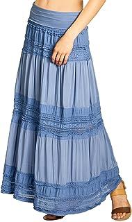 8fa4fb897beece Amazon.fr : Jupe Blanche Longue - CASPAR Fashion