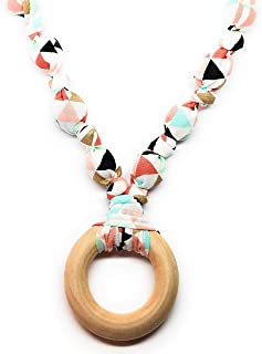 wooden teething necklace