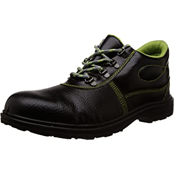 Aktion Safety Synthetic Leather Shoes RA-599A Composite Toe - Size 8, Black