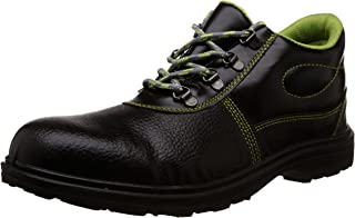 Aktion Safety Synthetic Leather Shoes RA-599A Composite Toe - Size 9, Black