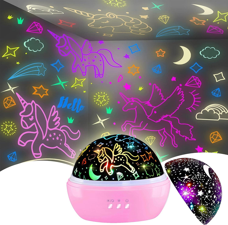 Night Under blast sales Light Oklahoma City Mall for Kids Unicorn fo LightStar Gifts Projector