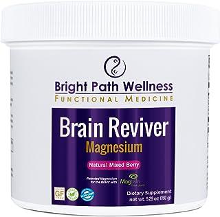 Brain Reviver Magnesium 60 Servings Natural Mixed Berry Powder Non GMO Gluten Free Brain and Cognitive Health Restore Brai...
