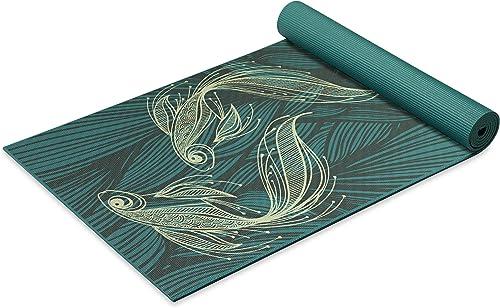 Gaiam Yoga Mat - Premium 6mm Print Extra Thick Non Slip Exercise & Fitness Mat for All Types of Yoga, Pilates & Floor...