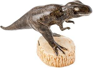 T Rex Dinosaur Shaped Ceramic Stoneware Hand Painted Coin Bank