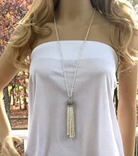 Great Gatsby Pearl Necklace, Bridal Wedding Jewelry