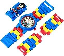 LEGO DC Comics 8020257 Super Heroes Superman Kids Minifigure Link Buildable Watch | blue/red | plastic | 25mm case diameter| analog quartz | boy girl | official