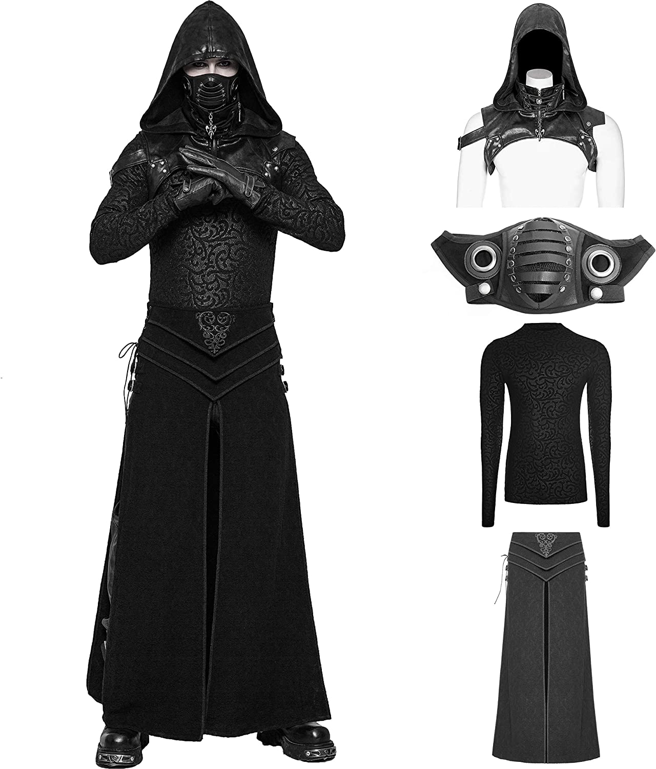 Long Beach Mall Punk Rave Men's Black Vintage Super special price Gothic Mask Assassin's Creed