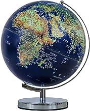 LED Globe Lights,32cm Illuminated World Globe Lamp with Wooden Base Modern World Globe-for Office and Home Decoration