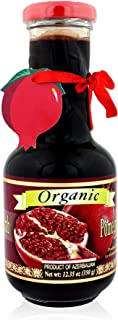 Pow Organic Pomegranate Molasses Sauce 12.35 Oz Glass Bottle