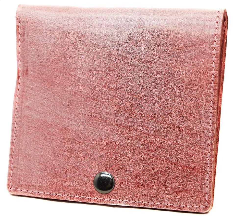ホイップ苗贅沢極上イタリア製ブライドルレザー 二つ折り財布 本革 薄型 コンパクト レッド ME0277_c4