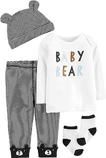 Carter's Baby Boys' 4-Piece Babysoft Take-Me-Home Set (Baby Bear, 9 Months)