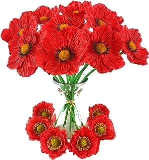 Best silk poppy wreath Reviews