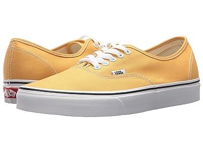 Vans Authentictm (Ochre/True White) Skate Shoes