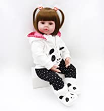 Pinky 24 inch 61cm Lovely Reborn Baby Girl Dolls Toddler Realistic Looking Life Like Baby Doll Vinyl Silicone Babies Xmas Gift