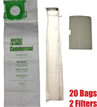 DVC Micro Lined Replacement for Sebo, Windsor Service Box Vacuum Bag and Filter Kit. 20 Bags and 2 Filters.