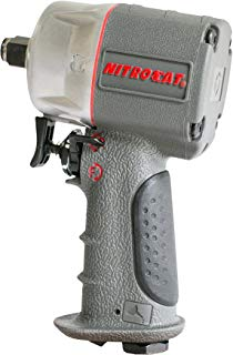 """AIRCAT 1056-XL Kevlar Composite Compact Impact Wrench, 1/2"""", Silver & Grey"""
