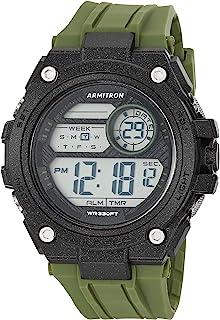 ساعة ارمترون سبورت للرجال بمينا رقمي كرونوغراف بسوار من البلاستيك المطاطي 40/8470