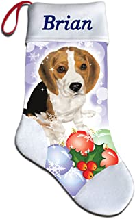 NEW Personalized Beagle Dog Puppy Lover Christmas Stocking Embroidered