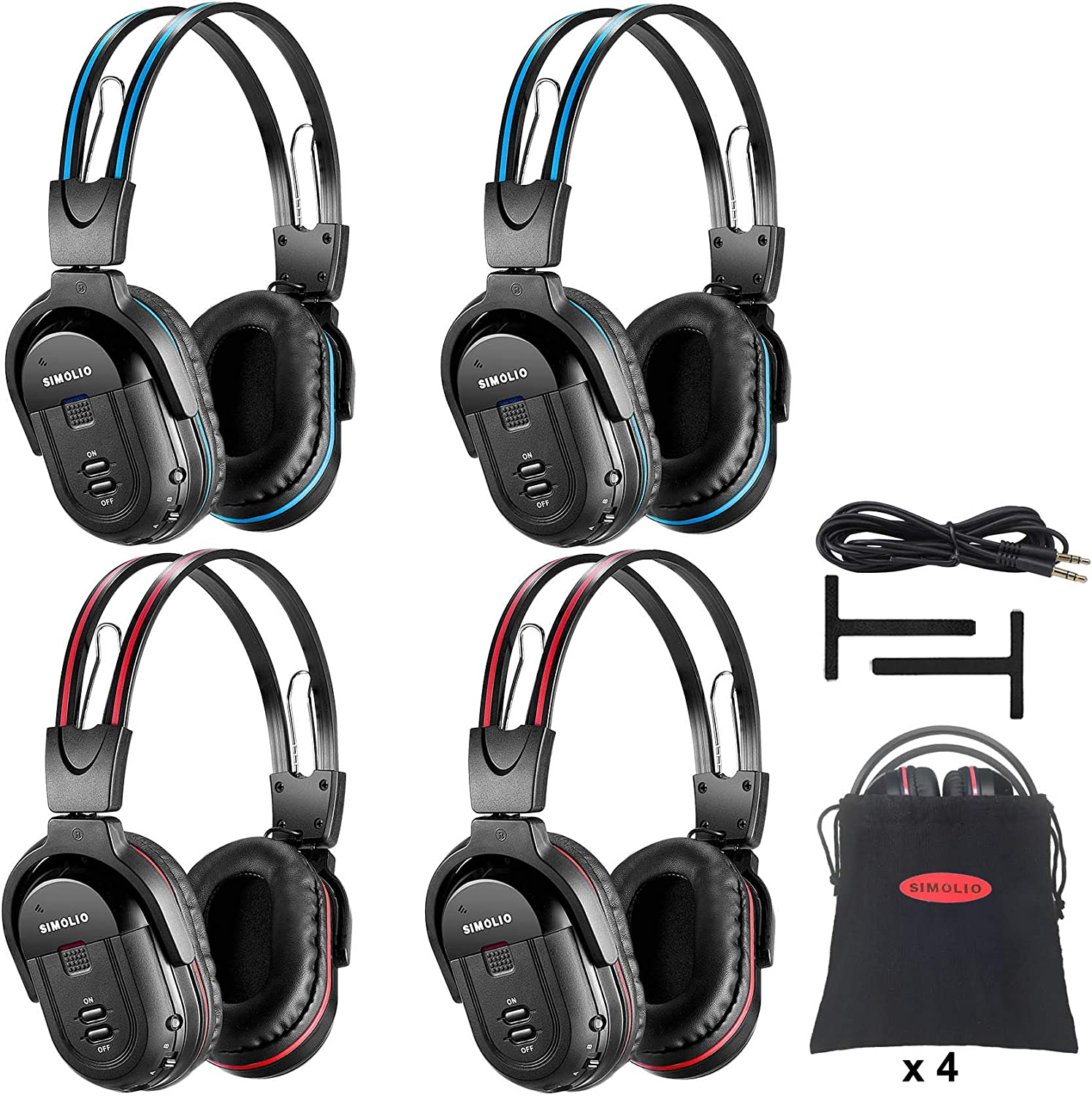 SIMOLIO 4 Pack of San Francisco Mall DVD All items in the store Headphones Car Wireless in Kids