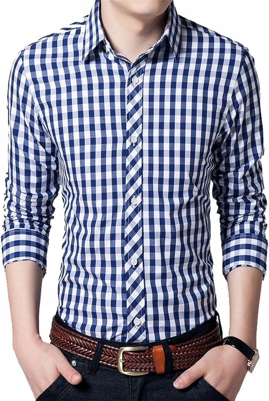fb3b36920e0b David Salc New Classic Long Sleeve Plaid Plaid Plaid Men Shirt Slim Fit  Mens Check Cotton Shirt 4XL 79110f