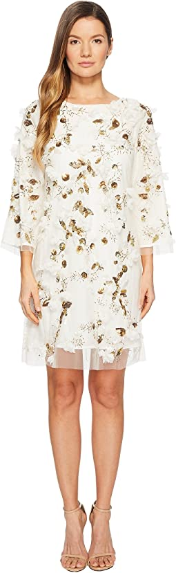Marchesa Notte - Embroidered Tunic with Sequins and Beads