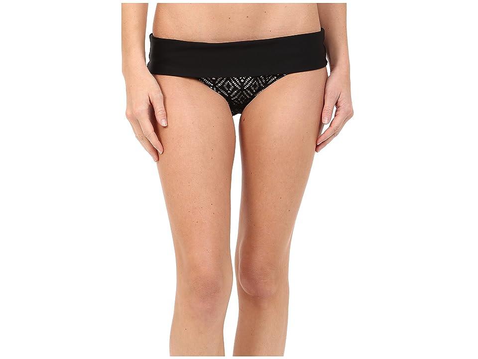 Next by Athena Inner Glow Powerhouse Banded Retro Bikini Bottom (Black) Women