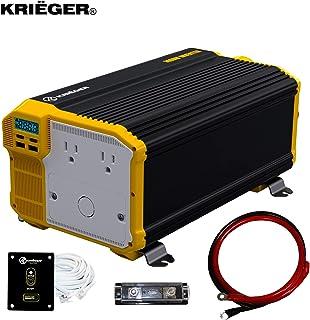 Krieger 3000 Watts Power Inverter 12V to 110V, Modified Sine Wave Car Inverter, Dual 110..