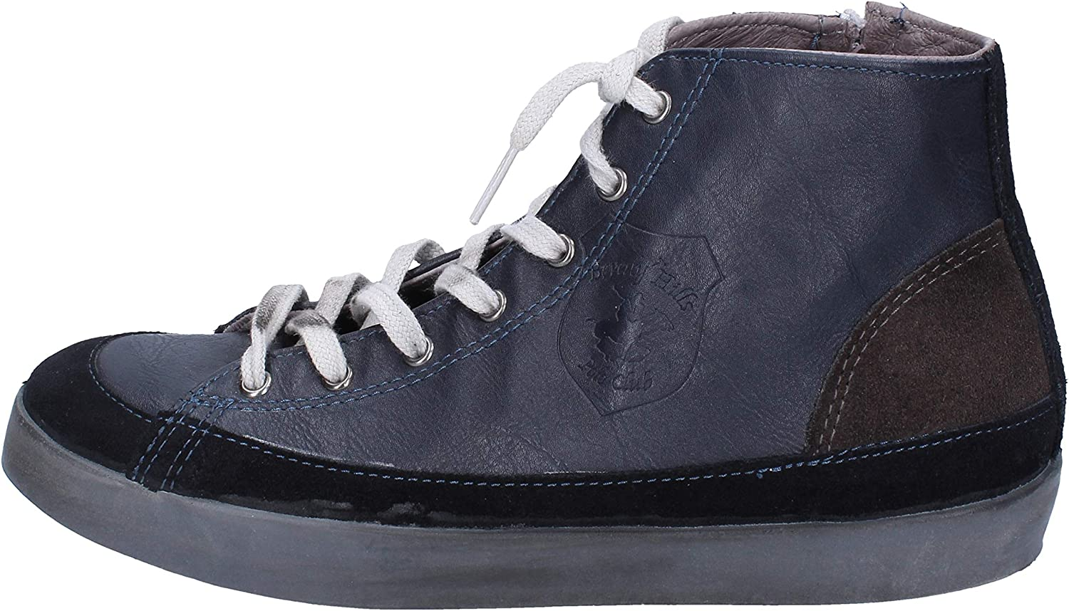 Beverly Hills Polo Club Fashion-Sneakers Mens Leather bluee