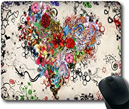 Tattoo heart Top Game Mouse Pad PC Computer Gaming Mousepad Fabric + Rubber Material in 220mm*180mm*3mm (9