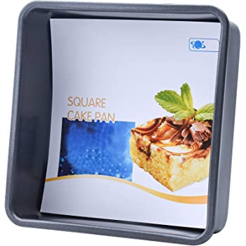 OJelay 6 Inch Square Cake Pan (Diagonal 8 Inch) Nonstick Bakeware Oven Baking Tray Carbon Steel Deep Dish Lasagna Pan