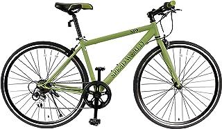 スピードワールド(SPEED WORLD) クロスバイク 90%組立 シマノ(SHIMANO) 700*28C(約27インチ) 自転車 安い 軽量 27インチ自転車 シマノ6段変速 変速 ギア付き スチールフレーム 適用身長155cm以上 初心...