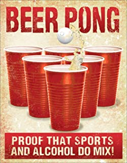beer pong signs