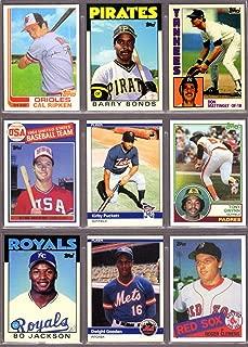 1980's (9) Card Baseball Rookie Reprint Lot**Featuring Cal Ripken, Barry Bonds, Don Mattingly, Mark McGwire, Kirby Puckett, Tony Gwynn, Bo Jackson, Doc Gooden, Roger Clemens