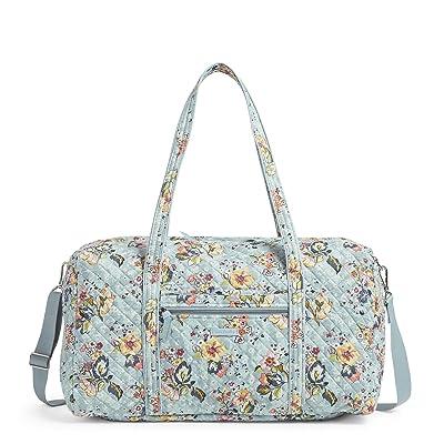 Vera Bradley Lay Flat Travel Duffel (Floating Garden) Bags