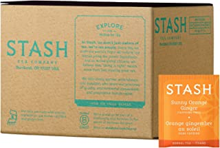 Stash Tea Sunny Orange Ginger Herbal Tea 100 Count (packaging may vary) Individual Uncaffeinated Herbal Tea Bags for Use i...