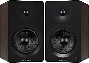 """Fluance Ai60 High Performance Powered Two-Way 6.5"""" 2.0 Bookshelf Speakers with 100W Class D Amplifier for Turntable, PC, HDTV & Bluetooth aptX Wireless Music Streaming (Natural Walnut)"""