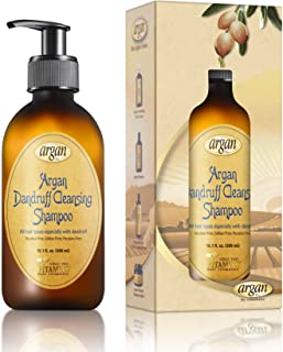 Vitamins Sulfate Free Dandruff Shampoo - Intense Hydrating Repair Treatment Clarifying Shampoo with Argan Oil for Itchy Dr...
