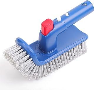 Pool Brush for Step & Corner, Rotatable Hand Scrub Brush, for Bathroom, Floor, Tub, Kitchen, Shower, Sepetrel