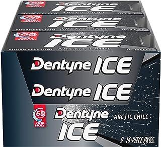 Dentyne Ice Sugar Free Gum (Arctic Chill 16 Piece Pack of 9)